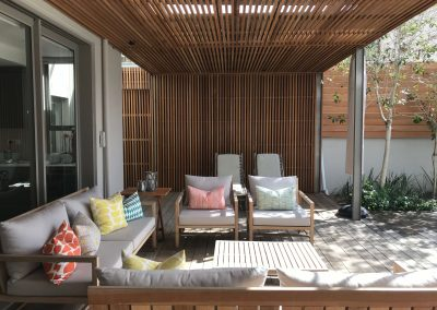 Beautiful Balau covered patio